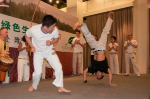 Capoeira exhibition for the opening of Greenlife NPOs new office