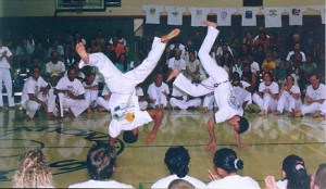 Mestre Espirro Mestre and Marcelo Pereira. Batizado 1998